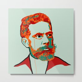Machado de Assis Metal Print