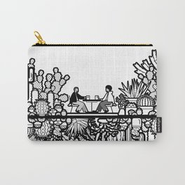 Chai and Cacti Carry-All Pouch