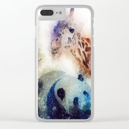 Animals Painting Clear iPhone Case