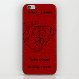 Heart Carbon iPhone Skin