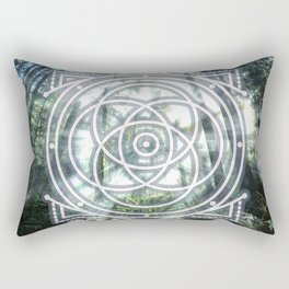 Sacred Geometry Forest Rectangular Pillow