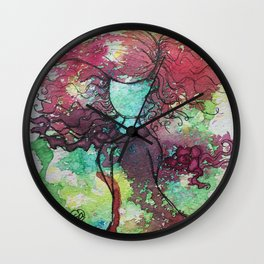 Carefree and Wild Wall Clock
