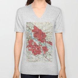 Vintage Map of Boise Idaho (1954) Unisex V-Neck
