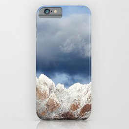 Desert Mountains with Snow-Barbara Chichester iPhone Case