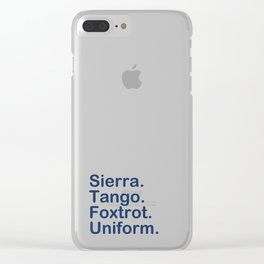 STFU Clear iPhone Case