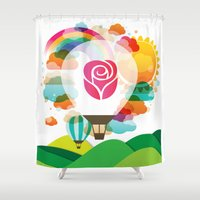 balloon Shower Curtains featuring Balloon by JS Creative