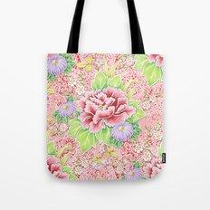 Pink Paisley Kimono Bouquet Tote Bag