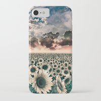 sunflowers iPhone & iPod Cases featuring sunflowers by Bekim ART