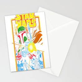 Boba Fett Fires Stationery Cards