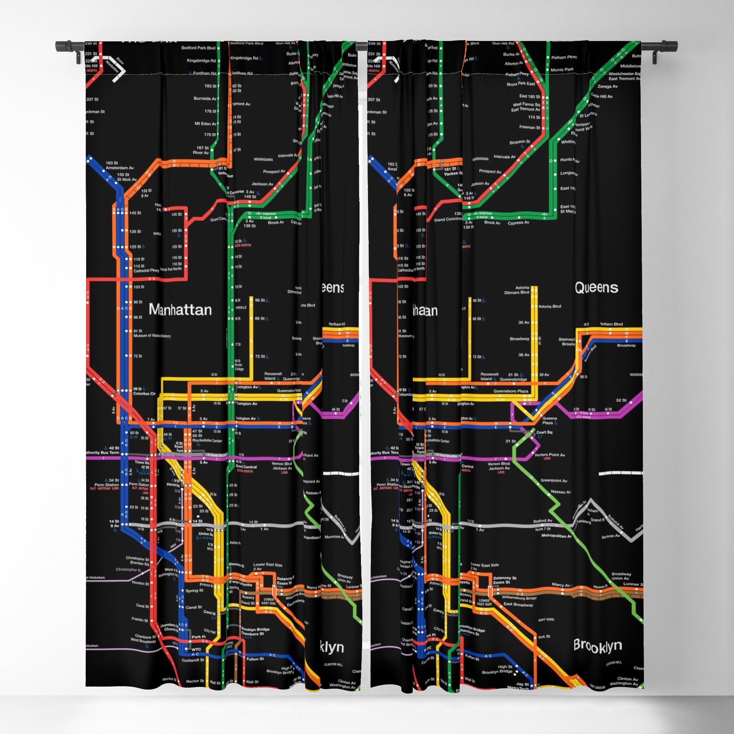 How To Purchase A Good New York City Subway Map.New York City Subway Map Blackout Curtain By Igorsin