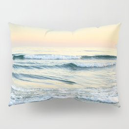 Serenity sea. Vintage. Square format Pillow Sham