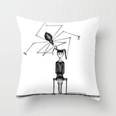 Miss Spider's Salon Throw Pillow
