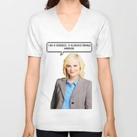 leslie knope V-neck T-shirts featuring Leslie Knope by Hannah