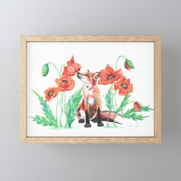Pause & Smell the Poppies Framed Mini Art Print