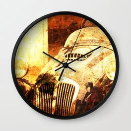 1954 Frazer Nash Le Mans classic race car golden art Wall Clock