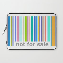 Not For Sale Barcode - Colorful Laptop Sleeve