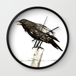 Raven's Call Wall Clock