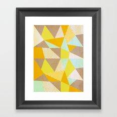 Geometric Warm Framed Art Print