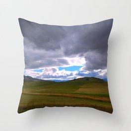 Breaking Blue Throw Pillow