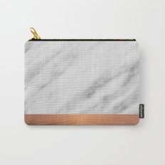 Carrara Italian Marble Holiday Rose Gold Edition Carry-All Pouch