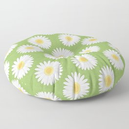 Spring Daisies_Greenery Floor Pillow
