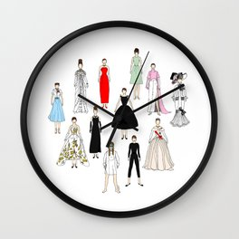 Audrey Fashion Whimsical Layout Wall Clock