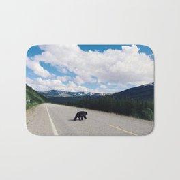 Black Bear Crossing Bath Mat