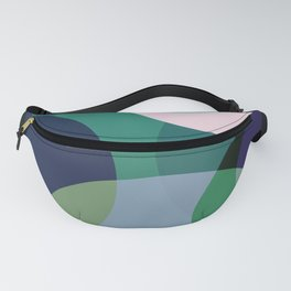 Purple Teal Blue Circle Abstract Fanny Pack