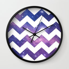 Night Chevron Wall Clock
