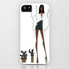 Tiwa inspired Fashion Illustration iPhone Case