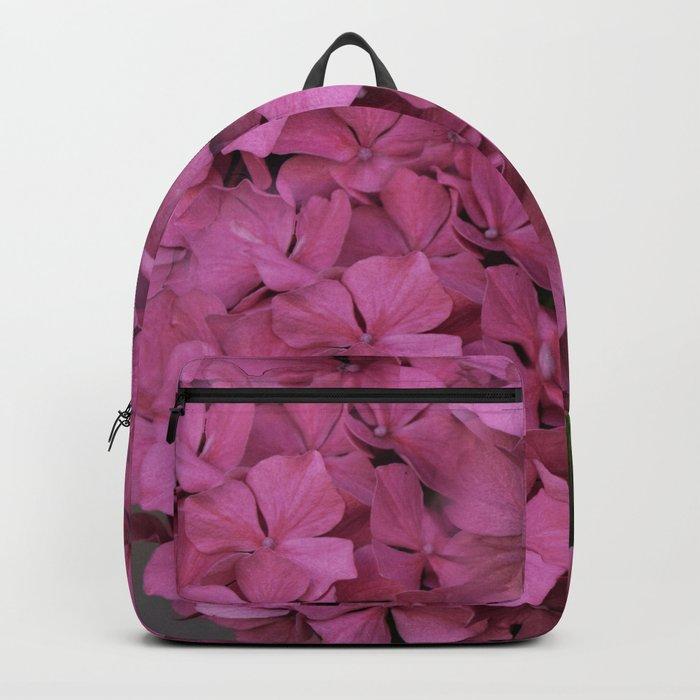 Pink hydrangea flowers Backpack