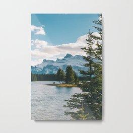 Two Jack Lake & Mt. Rundle Metal Print