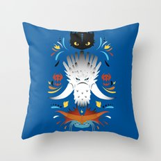 Trained Dragons Throw Pillow