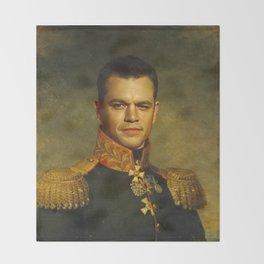 Matt Damon - replaceface Throw Blanket