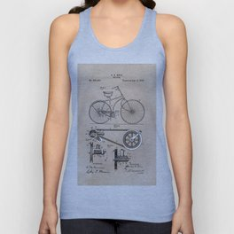patent Bicycle 1890 Rice Unisex Tank Top