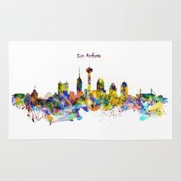 San Antonio Skyline Silhouette Rug