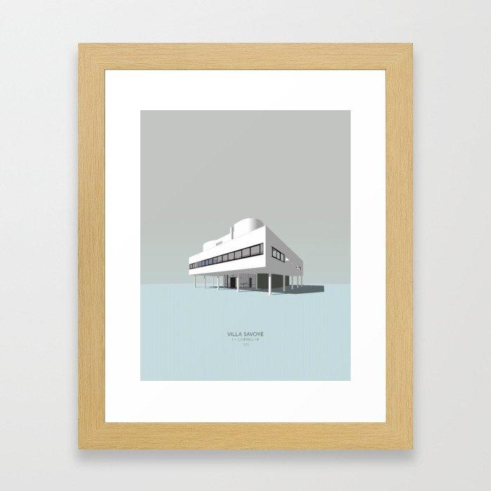 Villa Savoye - Le Corbusier Framed Art Print