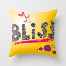 bliss. Throw Pillow