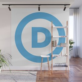 Democratic Party Logo Wall Mural