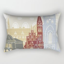 Odense skyline poster Rectangular Pillow