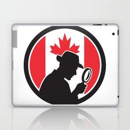 Canadian Private Investigator Canada Flag Icon Laptop & iPad Skin