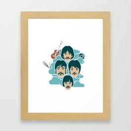 the music illustration Framed Art Print