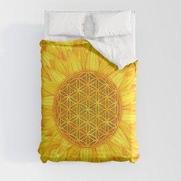 Flower of Life -Sunflower #3 Comforters