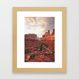 Fire Red Rock Formations in Utah Framed Art Print