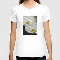 striped T-shirts featuring Striped Orchid by Tom Halley Photography