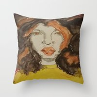 afro Throw Pillows featuring Afro by Stephon Daniels