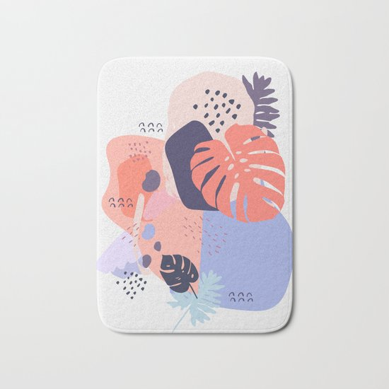 Concrete jungle Bath Mat