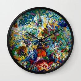 Coney Island, American Dreamland New York City Amusement Park by Joseph Stella Wall Clock