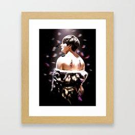 Fallen Angel Kim Taehyung Framed Art Print