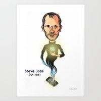 steve jobs Art Prints featuring Steve Jobs by Gilderic